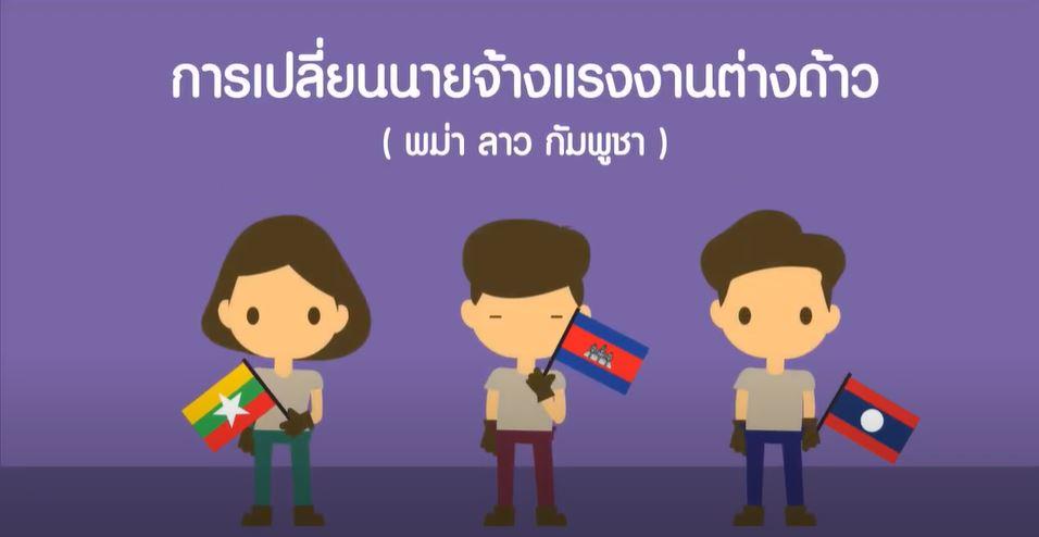 การเปลี่ยนนายจ้างแรงงานต่างด้าว (พม่า ลาว กัมพูชา)